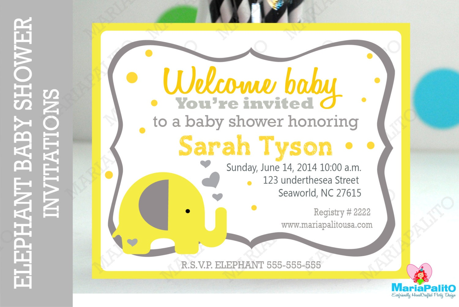 baby shower invitations handmade baby shower elephant