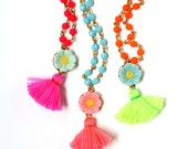 Girls Tassel and beads Necklace, Necklace for girls, Girls Boho Necklace