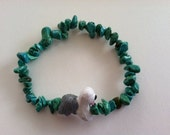 Howlite Bracelet - Old English Sheepdog Bead
