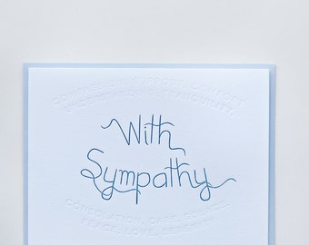 "Synonym | ""With Sympathy"" Letterpress Card"