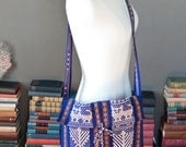 Vintage HANDLOOMED bohemian PEASANT BAG with fringes