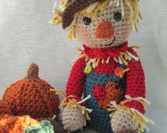 Crochet Pattern Scarecrow by Teri Crews instant download PDF format Crochet Toy Pattern