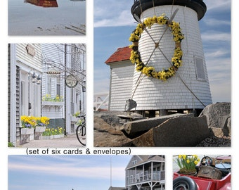 Nantucket Notecard Set,  Blank Inside with Envelopes, Set of Six, ACK, Nantucket Lighthouse, All Occasion Cards, Photo Note Cards, Birthdays