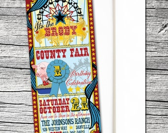 County Fair Invitations and Thank You cards (sold separately)
