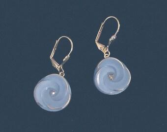 1950s Glass Button Earrings