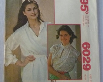 Misses Yoked Pullover Blouse Size 20 Bust 42 UNCUT Vintage 1970's McCalls Pattern 6029