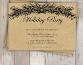 Holiday Party Invitations: Burlap and Boughs Christmas Party Invitation - Printable, Customizable