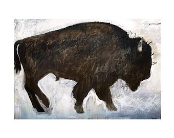 The BISON - Buffalo Print - by Man Art Nation - 8.5x11, 11x14, 13x19