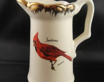 Cardinal Indiana Ceramic Creamer Made in USA