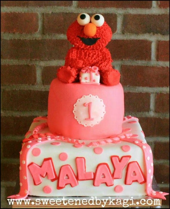 Items similar to Elmo cake topper on Etsy