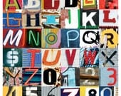Urban Alphabet Glossy Print
