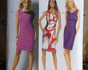 Size 14 16 18 20 22 Butterick B5915 Semi-Fitted Dress Lined  MIsses Women Uncut Sew Sewing Pattern