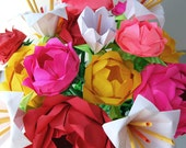 Mixed Bouquet of Roses and Lilies