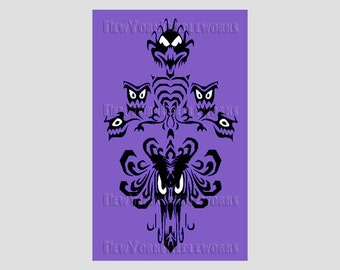 Haunted Mansion Wallpaper Cross Stitch, Haunted Mansion, Disney Cross Stitch, Haunted Mansion, Silhouettes from NewYorkNeedleworks on Etsy