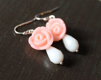Sweet Pink Rose earrings