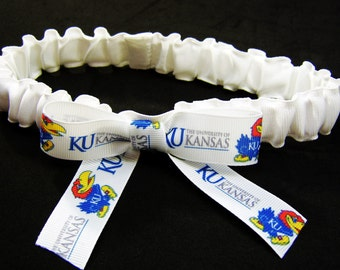 University of Kansas Jayhawks Wedding Garter  Lingerie Game Day Leg Garter