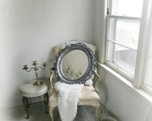 B a r o q u e... Silver Mirror Modern Baroque Furniture Nursery Paris Vanity