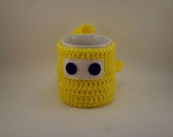 Ninja Mug Cozy & Coaster BRIGHT YELLOW Freesia Sunshine