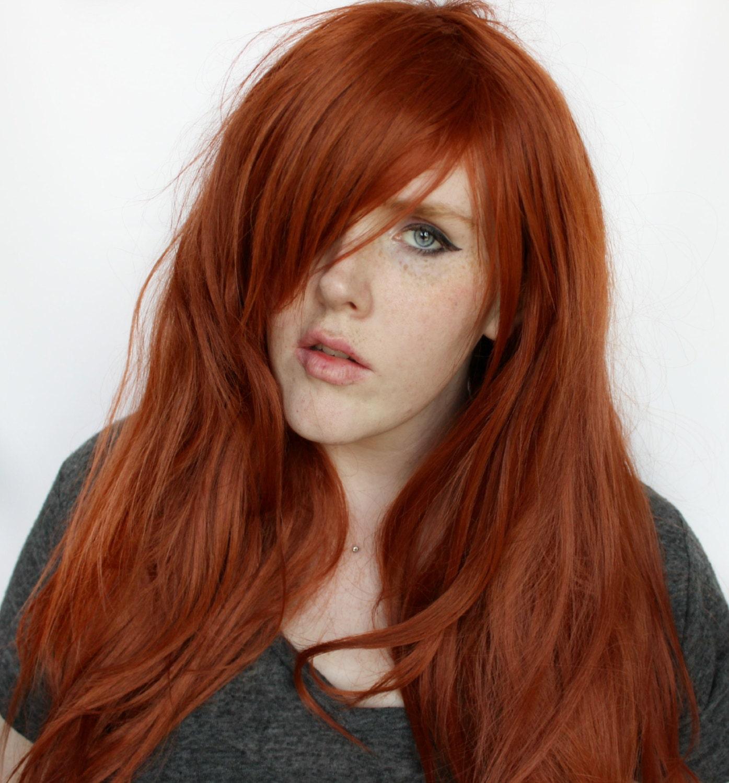 SALE Auburn wig Long Red wig Straight Auburn wig Natural