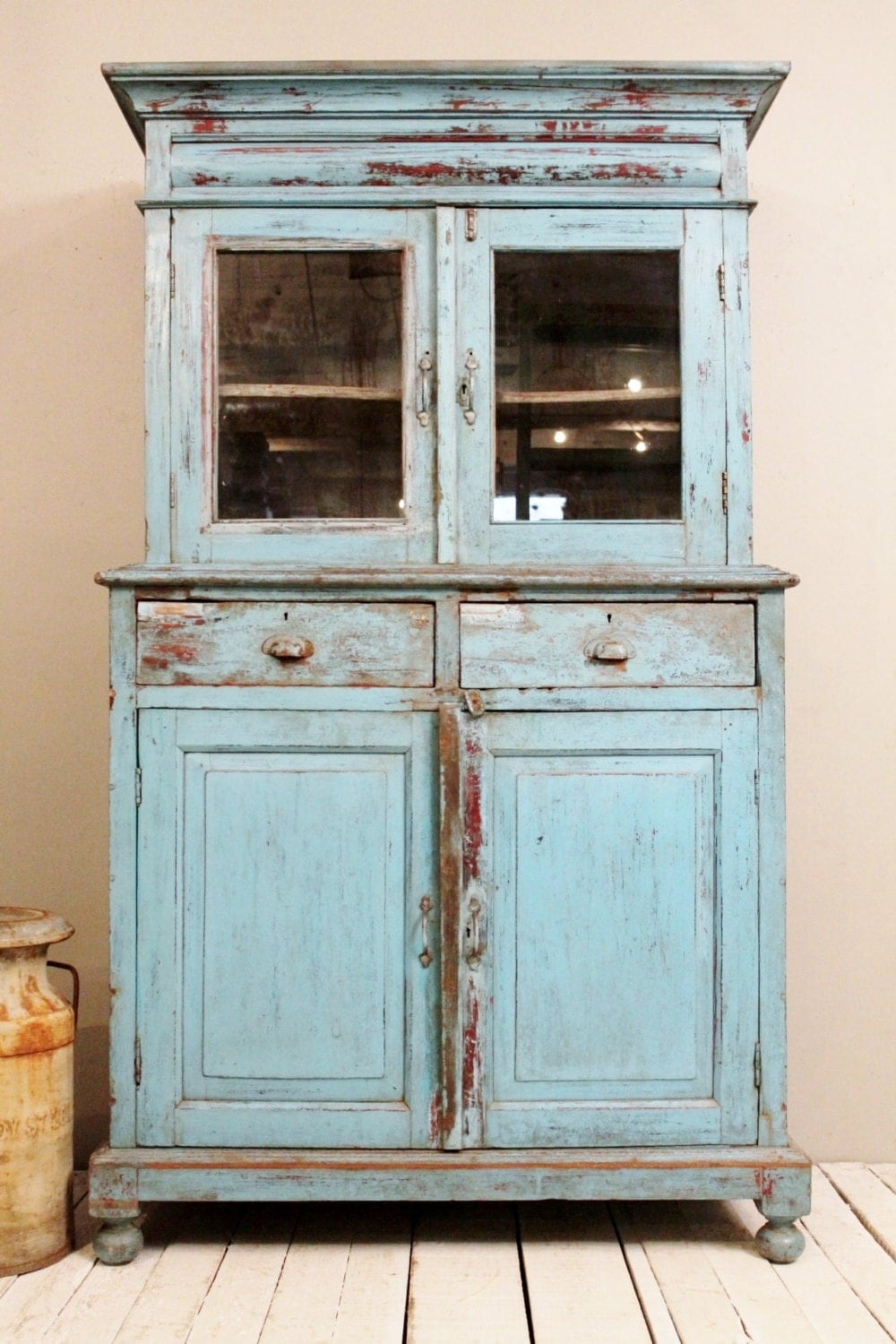 Deposit Reserved for Shari Vintage Distressed Kitchen ... |Retro Cupboards