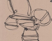 "Brown Series - Untitled I - original drawing 8"" x 10"""