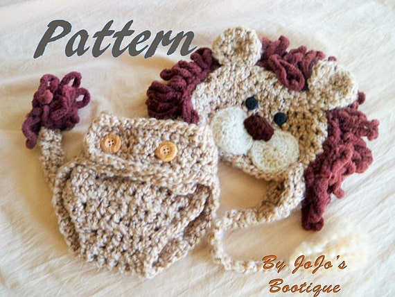 Pdf Baby Lion Hat Pattern With Diaper Cover And Tail Baby