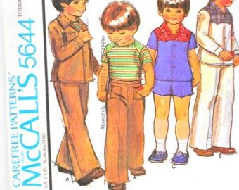 Toddlers Shirt Short Jacket Pattern,Vintage McCalls Pattern 5644, Un Cut, Tailoring Supplies, Sewing Notions