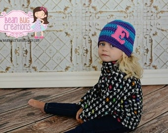 Personalized Hat / baby hat / girl hat / boy hat / baby boy hat / personalized hat / initial hat / infant hat /crochet baby hat / baby name