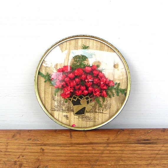 Vintage Dried Flower Framed Wall Decor Convex Glass