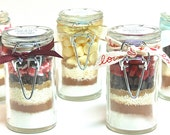 Hot Chocolate in Jar- 3 Mini Hot Cocoa Mixes in Snap Top Glass Jars, Hot Cocoa Gift Set, Gourmet Hot Chocolate Sampler, Favors