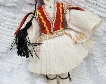 Vintage 1950s Greek Doll in Beautiful Costume