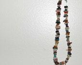Rainbow Multi-stone Choker OOAK Semi-Precious Natural