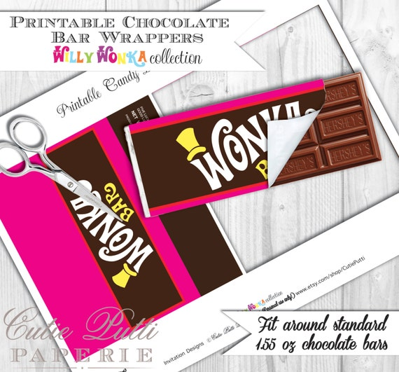 Influential image throughout wonka bar printable