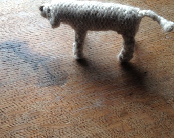Labrador dog  knitted in wool