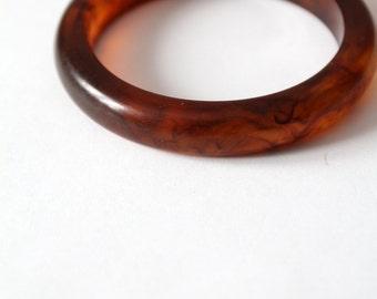 vintage bangle,  faux amber bracelet