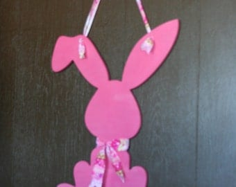SALE READY to SHIP Wood Easter Bunny Painted