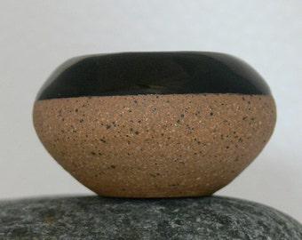 Tiny Fat Belly Stoneware Pot Handmade