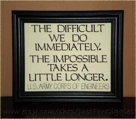 Ww2 Quotes: Teamwork Quote We Do The Impossible WW2 Corps Of