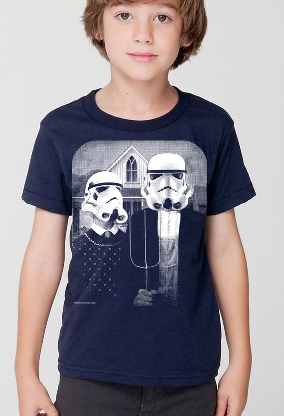 kids star wars storm trooper on boys childrens t shirt