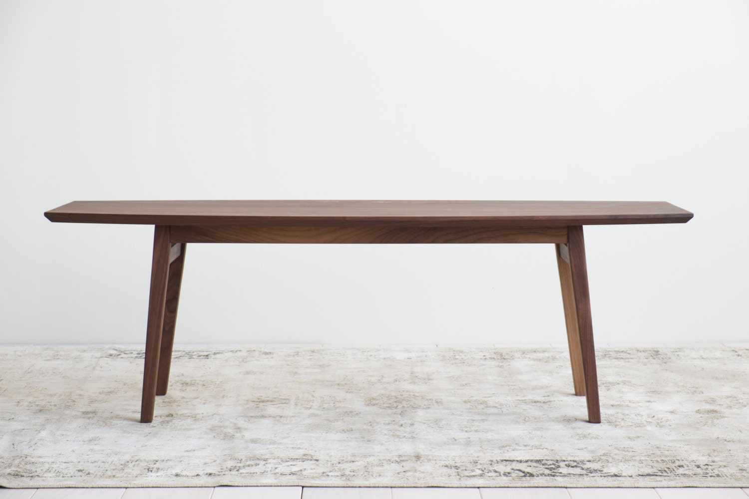Mid century solid walnut surfboard coffee table available in for Other uses for a coffee table