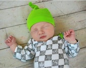 Lullaby Line Hat and Mitts: Layette Hat Pattern, Knot Hat Pattern, Layette Scratch Mitts Pattern