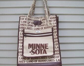 Skyway Novelty Minnesota Travel Bag / Weekender / Travel Tote
