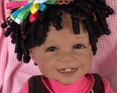 """22 inch Ethnic Vinyl Toddler Doll """"Silly Goose"""""""