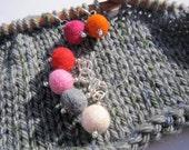 6 Stitch Markers, felt beads