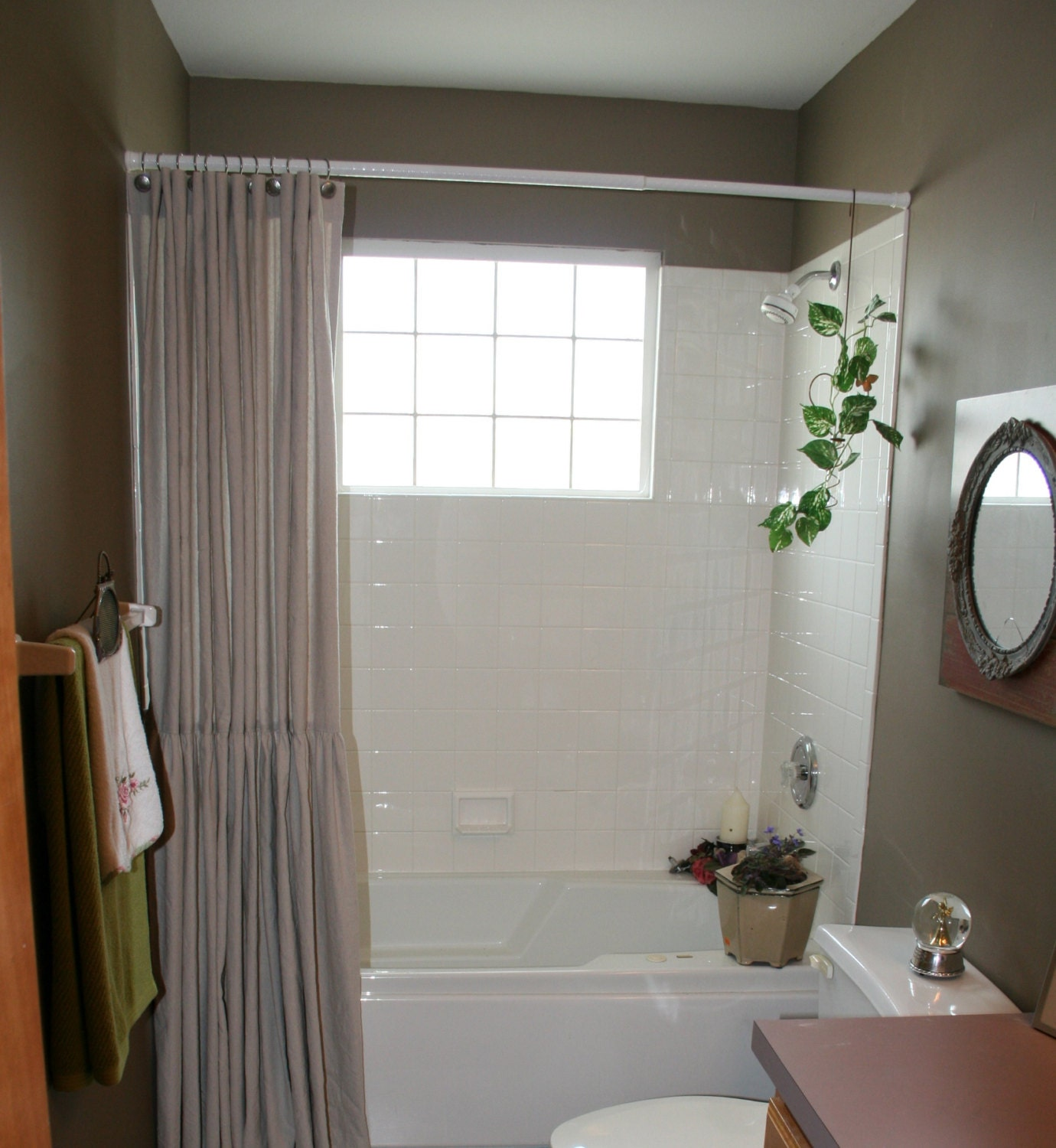 Painters Drop Cloth Shower Curtain