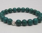 Magnesite Energy mala bracelet, Yoga bracelet, Wrist mala Healing bracelet, Prayer beads, Worry Beads Crown Chakra bracelet Healing bracelet