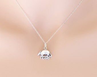 Armadillo Necklace Sterling Silver Texas