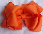 Large Orange  Double Layered Boutique Hair Bow