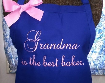 Apron Personalized Grandma is the best baker