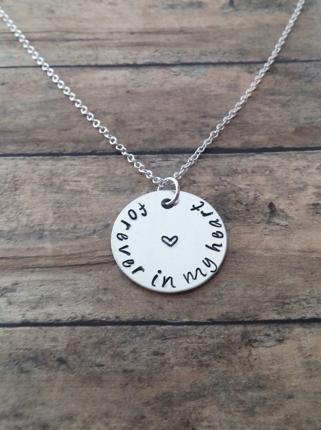 forever in my heart necklace memory by gracefullymadestudio
